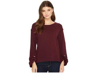 Splendid Grommet Sweatshirt Women's Sweatshirt