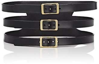 C.S. Simko Women's Three-Buckle Corset Leather Belt