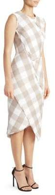 Altuzarra Stretch Wool Gingham Sheath Dress