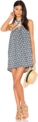 J.O.A. Lace Trim Halter Neck Dress $92 thestylecure.com