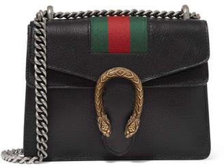 Gucci Dionysus Mini Textured-leather Shoulder Bag - Black