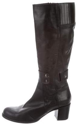 Alberto Fermani Round-Toe Leather Boots