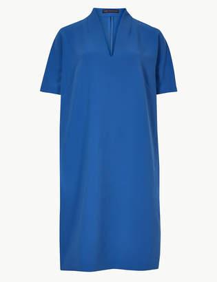 M&S Collection V-Neck Short Sleeve Shift Mini Dress