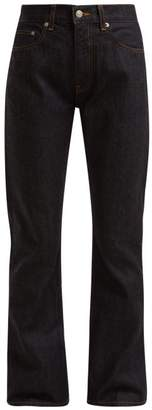 Brock Collection Wright High Waist Straight Leg Jeans - Womens - Dark Blue