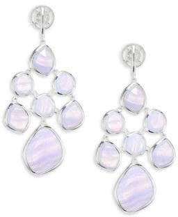 Monica Vinader Siren Blue Lace Agaate Chandelier Earrings