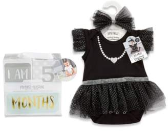 Baby Aspen My First Party Dress, Headband & Milestone Blocks Set