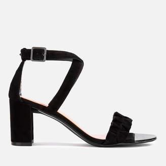 Ted Baker Women's Floxen Suede Block Heeled Sandals - Black