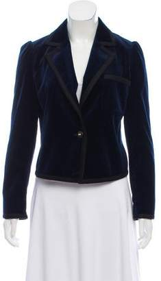 Frame Velvet Notch-Lapel Blazer