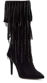 Jessica Simpson Linko Fringe Tall Dress Boots Women's Shoes