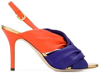 Emilio Pucci color-block sandals
