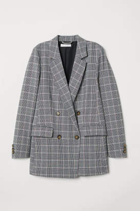 H&M Double-breasted Jacket - Gray