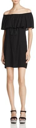 AQUA Off-the-Shoulder Ruffle Dress - 100% Exclusive $78 thestylecure.com