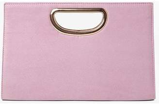 Dorothy Perkins Womens Lilac Metal Handle Clutch Bag