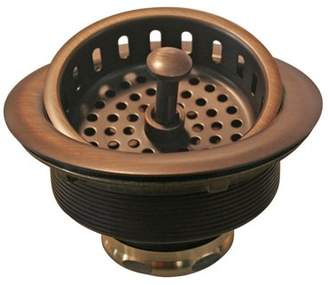 Westbrass Post Style Large Kitchen Basket Strainer in Antique Copper