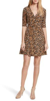 Diane von Furstenberg New Savilla Leopard Print Silk Wrap Dress