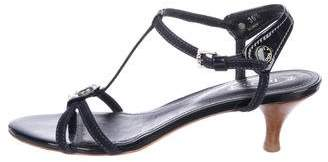 Tod's Patent Leather T-Strap Sandals