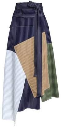 J.W.Anderson Asymmetric Patchwork Cotton Midi Skirt