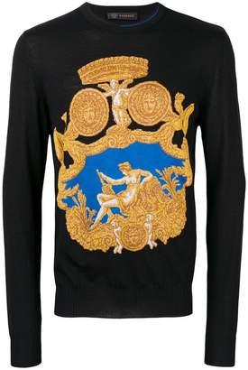 Versace baroque knit jumper