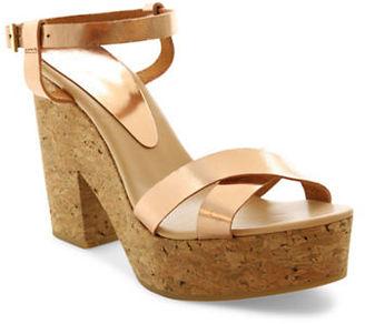 Andre Assous Finnley Leather Platform Sandals $259 thestylecure.com
