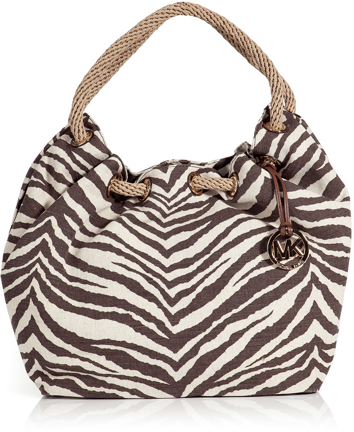 Michael Michael Kors Tiger Canvas Shoulder Bag