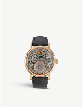Breguet 5335BR/42/9W6 Tourbillon Messidor 5335 18-ct rose-gold and leather watch