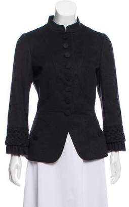 Andrew Gn Wool-Cashmere Stand Collar Jacket