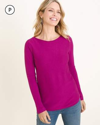 Chico's Chicos Petite Bateau-Neck Shirttail-Hem Pullover Sweater