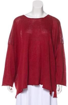eskandar Oversize Knit Linen Top