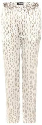Isabel Marant Sonia printed silk trousers