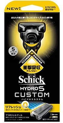 Schick シック 5枚刃 ハイドロ5 カスタム リフレッシュ ホルダー 替刃1コ付 (替刃は本体に装着済み) 男性 カミソリ