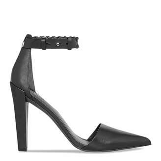 Black Leather Gabie Heels