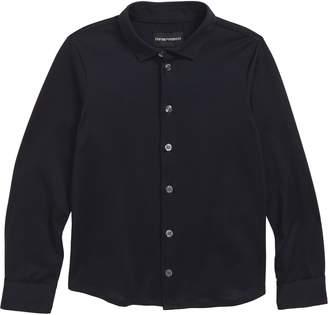 Armani Junior Long Sleeve Cotton Shirt