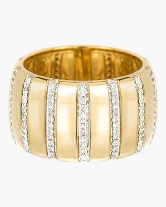 Adina Diamond Stripe Barrel Ring