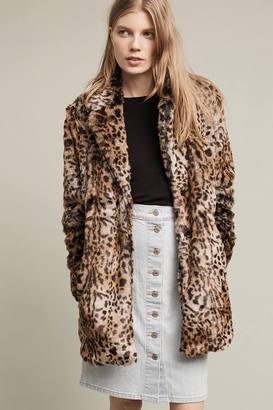 Sanctuary Kate Faux-Fur Leopard Coat $229 thestylecure.com
