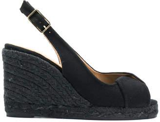Castaner slingback platform wedge sandals