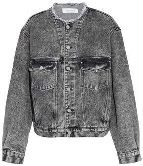 IRO Frayed Faded Denim Jacket