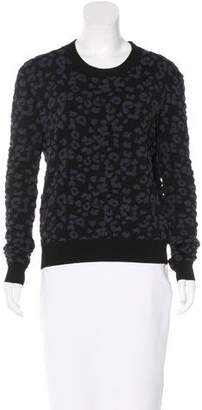 Rebecca Taylor Embroidered Crew Neck Sweater