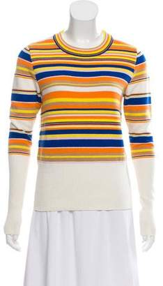 Tory Burch Crew Neck Stripe Sweater