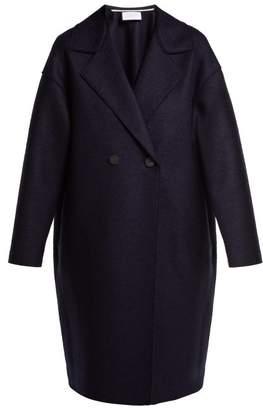 Harris Wharf London Double Breasted Wool Coat - Womens - Navy