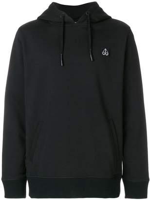 Moose Knuckles logo patch hoodie