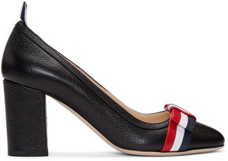Thom Browne Black Wholecut Bow Heels $890 thestylecure.com