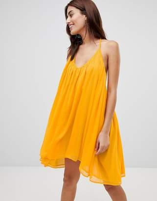 NA-KD Thin Strap Chiffon Dress
