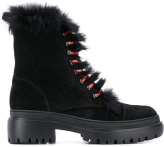 Pollini suede boots