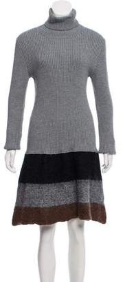 Cacharel Long Sleeve Knee-Length Dress