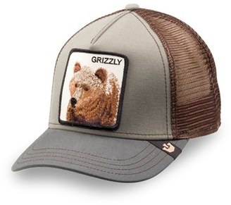 Men's Goorin Brothers 'Animal Farm - Grizz' Mesh Trucker Hat - Green $30 thestylecure.com