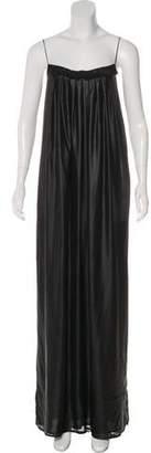 L'Agence Pleated Maxi Dress
