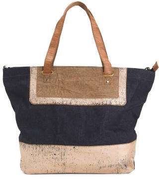Upcycled Demi Canvas Tote