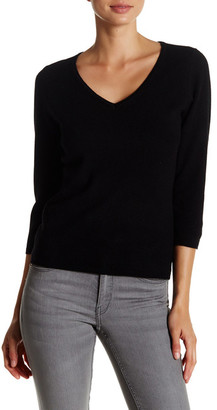 In Cashmere 3/4 Length Sleeve Cashmere Sweater $188 thestylecure.com