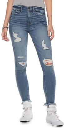 c9e6d7c583d07 Mudd Juniors  High-Waisted Frayed Ankle Jeggings