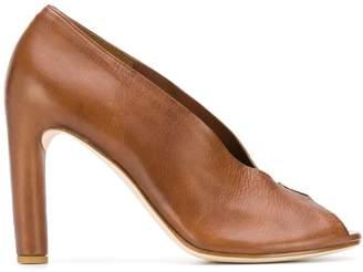 PeepToe Del Carlo peep-toe pumps